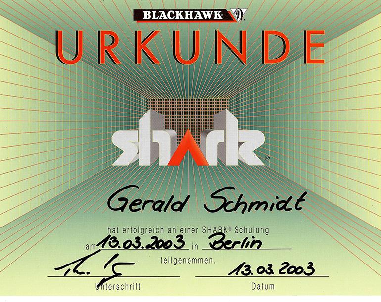 Blackhawk-Shark-Richtbank-Schulungsurkunde_770