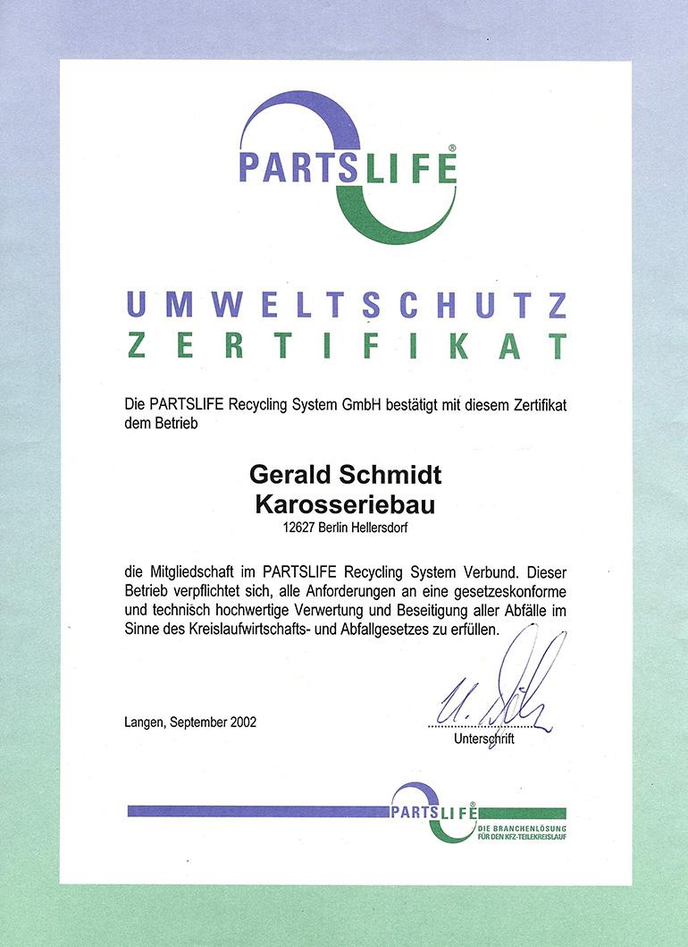 Partslife-Umweltschutz-Zertifikat_770